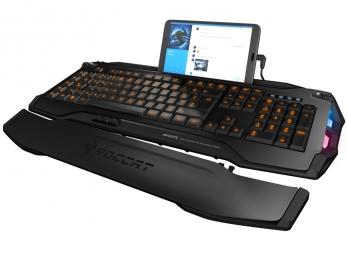 Bàn phím tích hợp LED RGB chơi game thông minh Roccat Skeltr - Grey