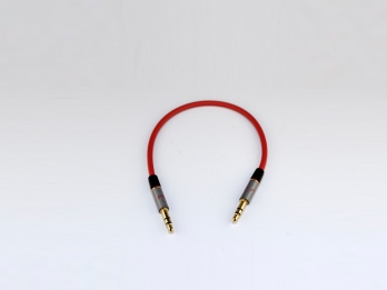NuForce Audio Cable 3.5mm stereo to stereo cable (0.2m) - Red