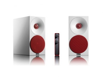 Loa Hi Fi Amphion LoudSpeakers Helium 410 - Full White Grids Red