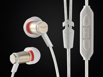 Tai nghe In Ear V MODA Forza Metallo dành cho audiophile mang phong cách thiết kế Italy - Rose Gold for Android