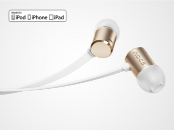 Tai nghe Nocs NS500 Aluminum cho iOS - Gold (NS500-012)