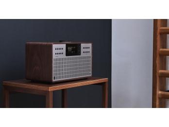 Loa Bluetooth Revo SuperCD - Walnut Silver