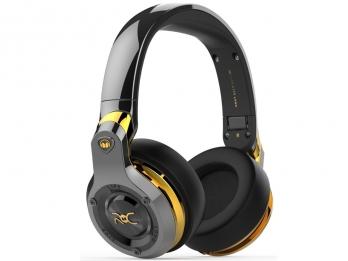 Tai nghe không dây Bluetooth aptx, Monster ROC Sport Black Platinum Over-Ear Wireless, nghe nhạc theo phong cách Ronaldo