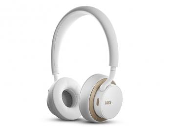 Tai nghe không dây bluetooth u JAYS Wireless - White on Gold