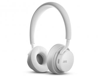 Tai nghe không dây bluetooth u JAYS Wireless - White on Silver