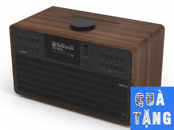 Loa Bluetooth Revo SuperCD - Walnut Black