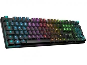Bàn phím cơ Roccat Suora FX có thiết kế Frameless, đèn led RGB 16.8 triệu màu, Blue switch